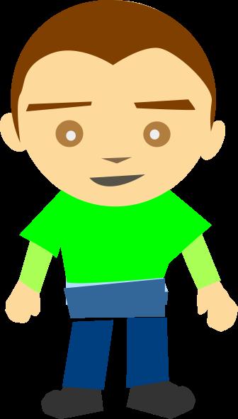 Boy Standing Green Shirt Clip Art at Clker.com.