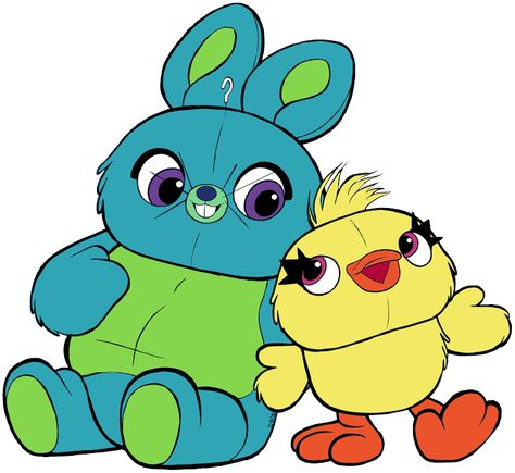 Clip art of Bunny and Ducky from Toy Story 4 #bunny, #ducky.