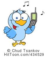 4 Calling Birds Clipart.