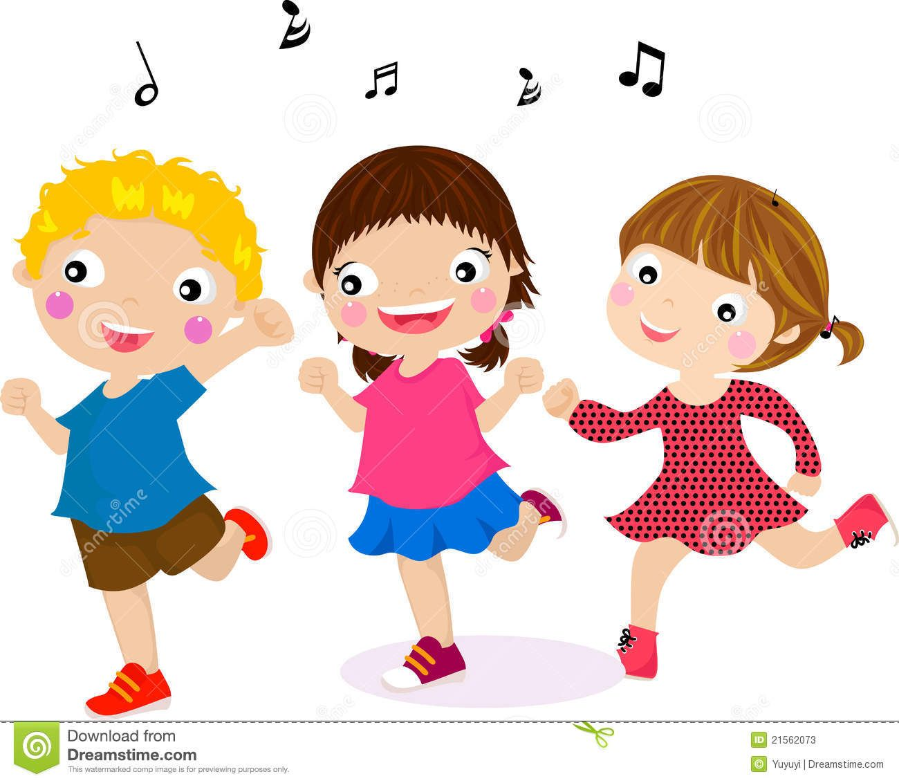 Pics For > Children Singing And Dancing Clip Art.