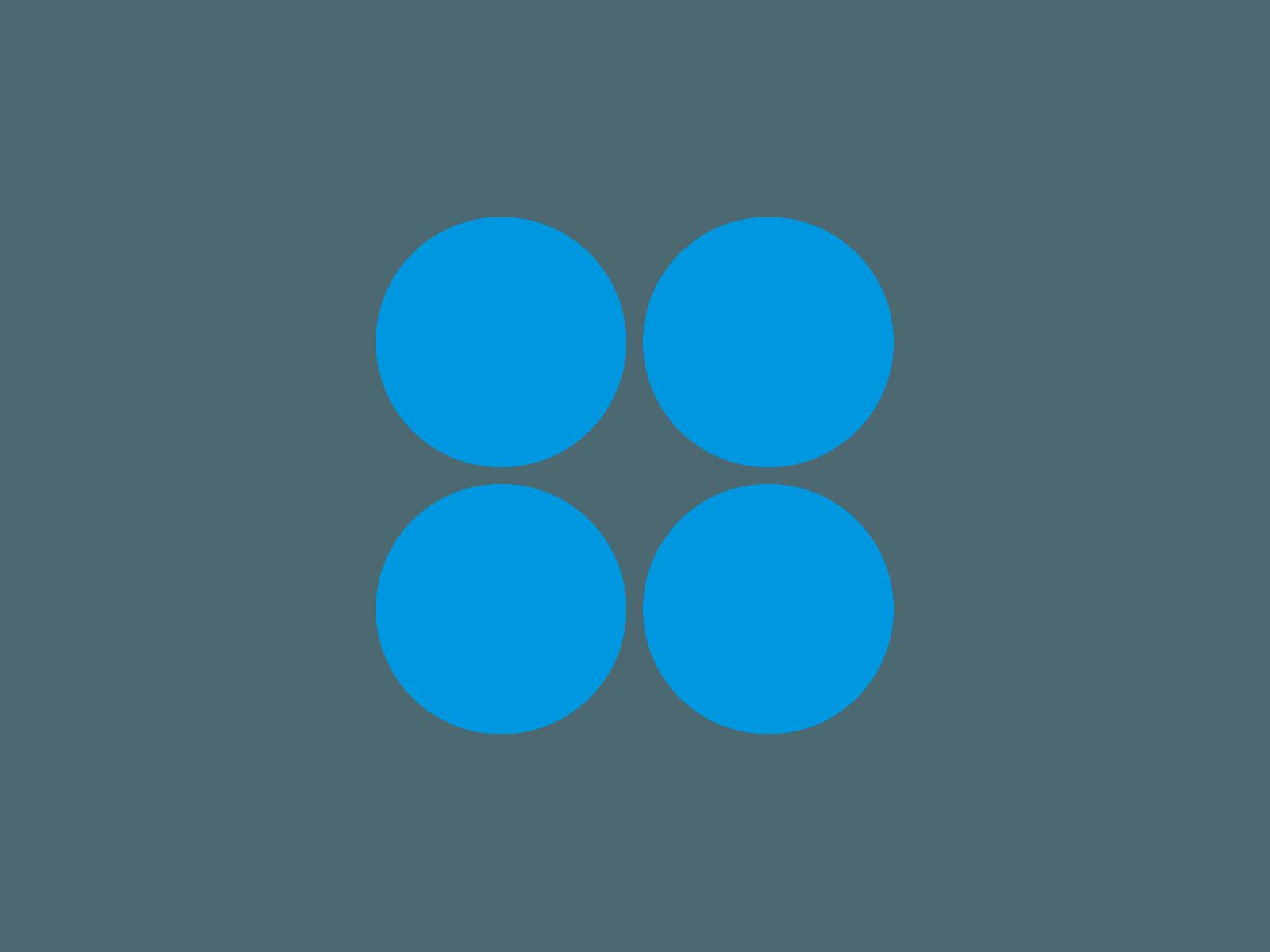 4 Blue Circles Logo.