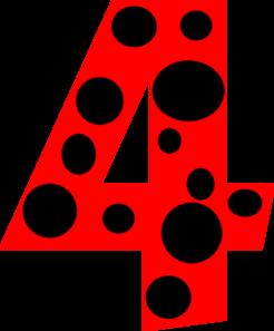 Number 4 Dots Clip Art at Clker.com.