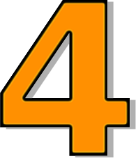 Number 4 Orange Clip Art Download.