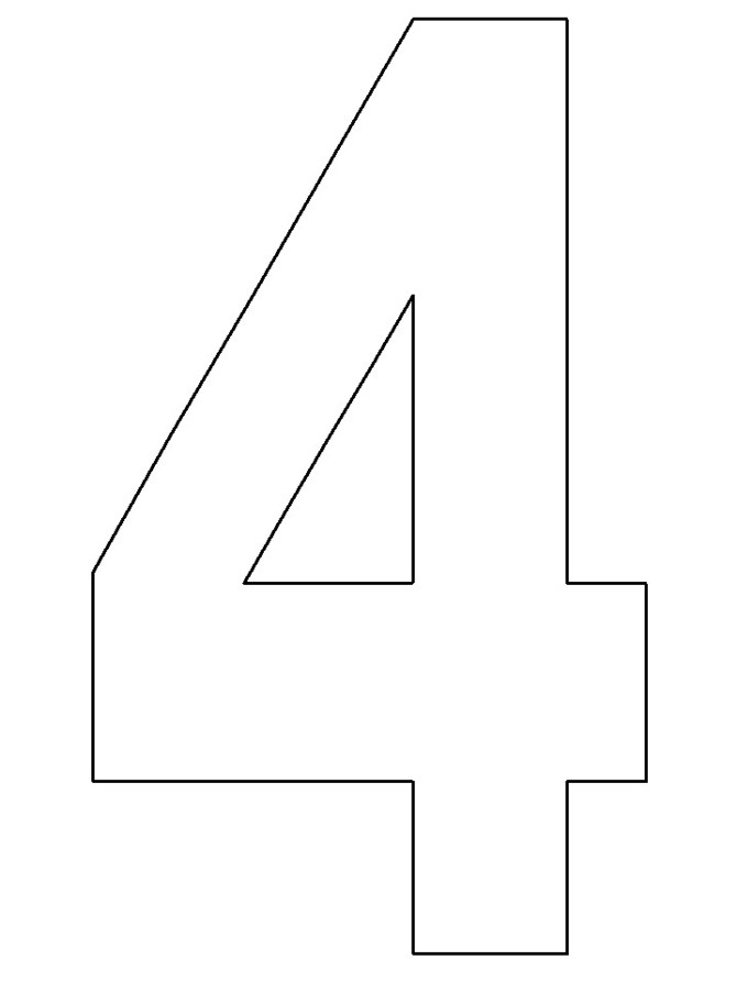 Free Number 4 Clipart Black And White, Download Free Clip.