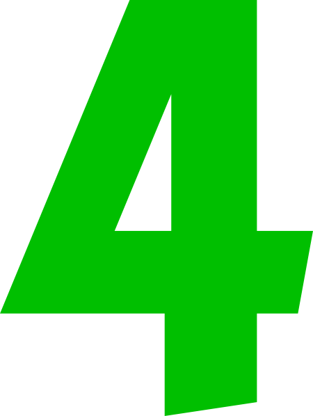Number 4 Clipart Free.