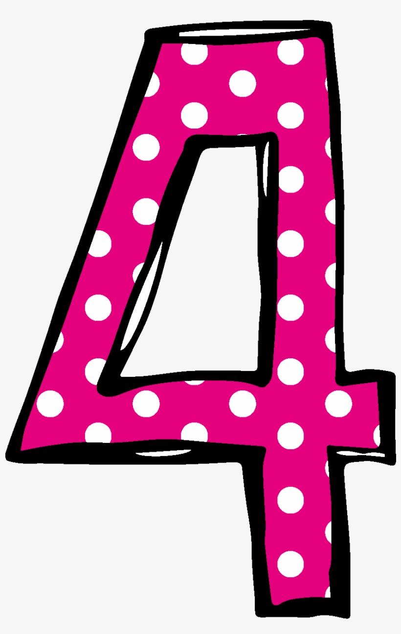 Polka Dot Number 2 Birthday Clipart.