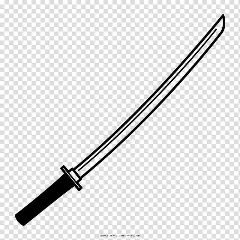 Sword Katana Coloring book Drawing Samurai, Sword.