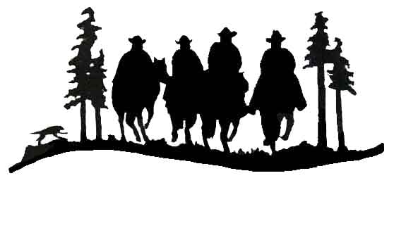 Free Cowboys Silhouette, Download Free Clip Art, Free Clip.