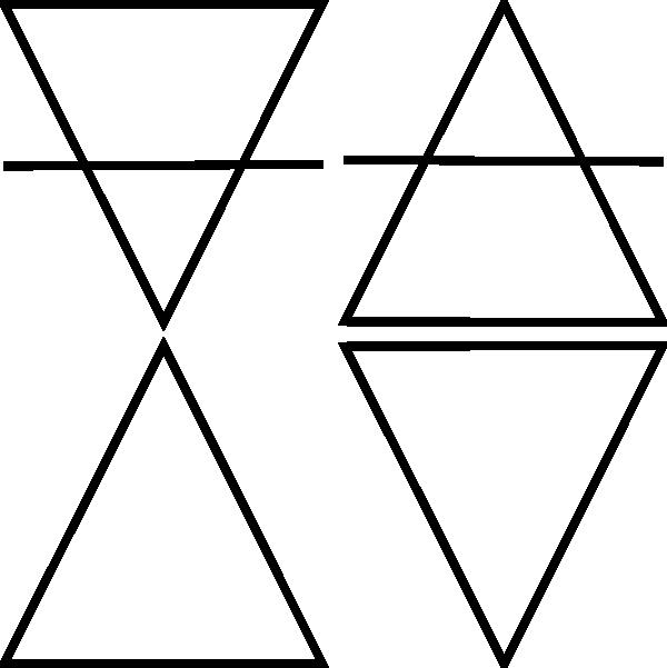 Four Geometric Triangle Symbols Clip Art at Clker.com.