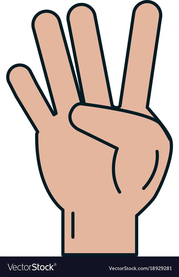 Four fingers clipart 5 » Clipart Portal.