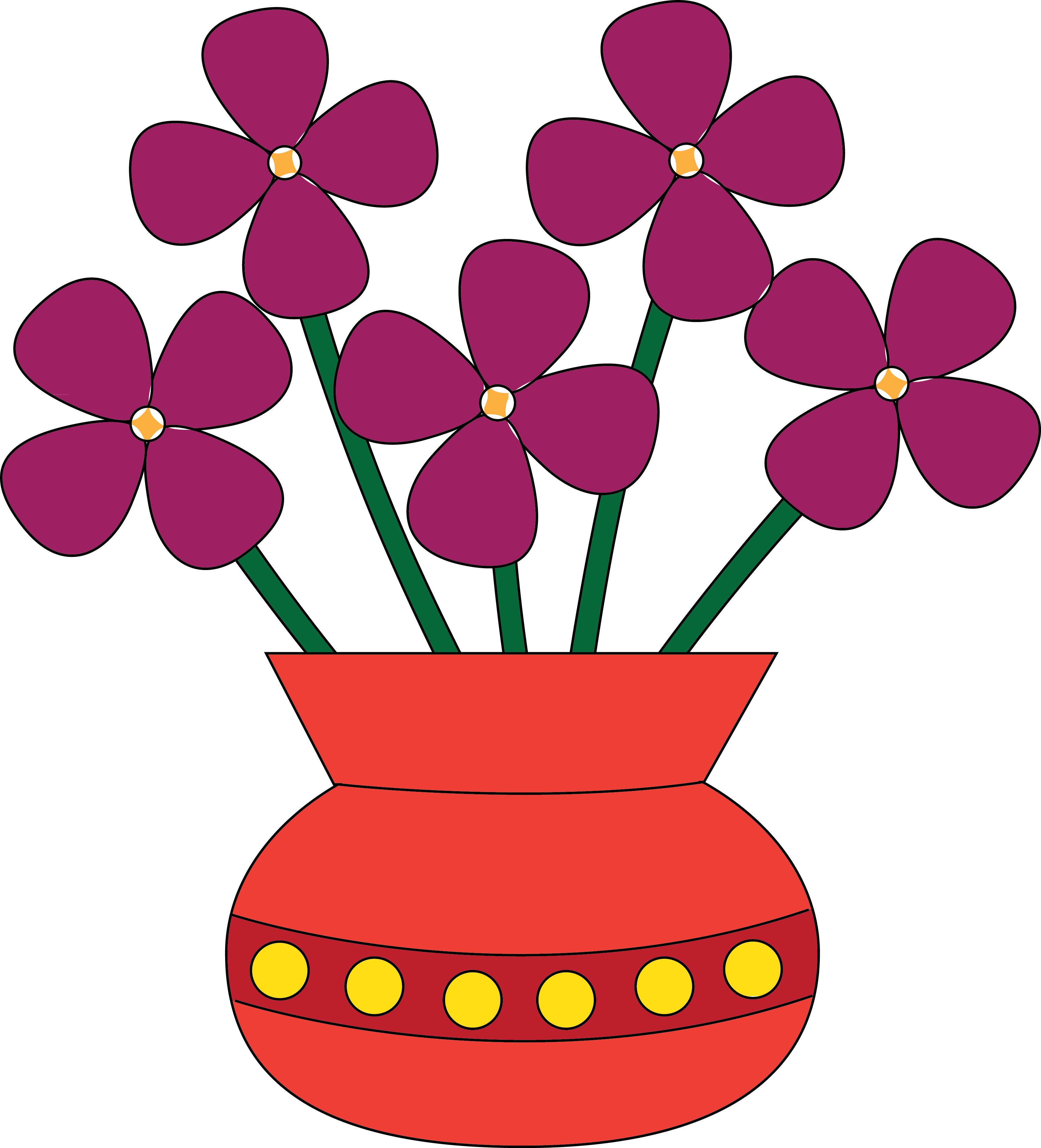 Clipart Flowers In A Vase.