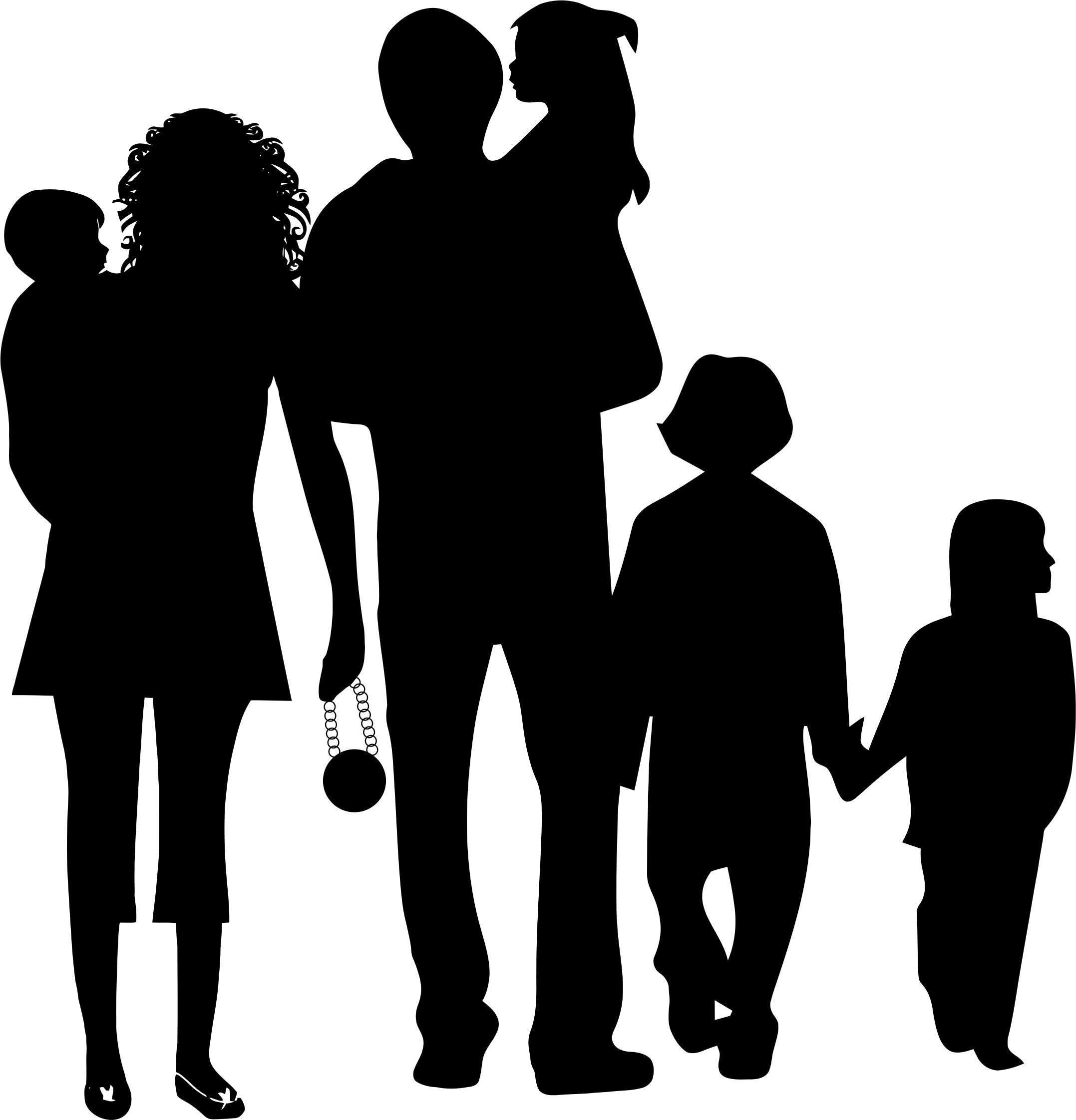 Community clipart silhouette, Community silhouette.