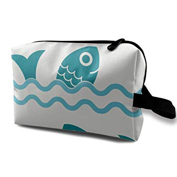 Amazon.com : Makeup Bag Pattern Clipart Ocean Waves Portable.