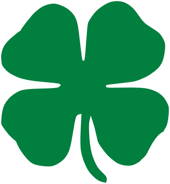 Symbol Service Through 4 H Logo Clover Club clipart free image.