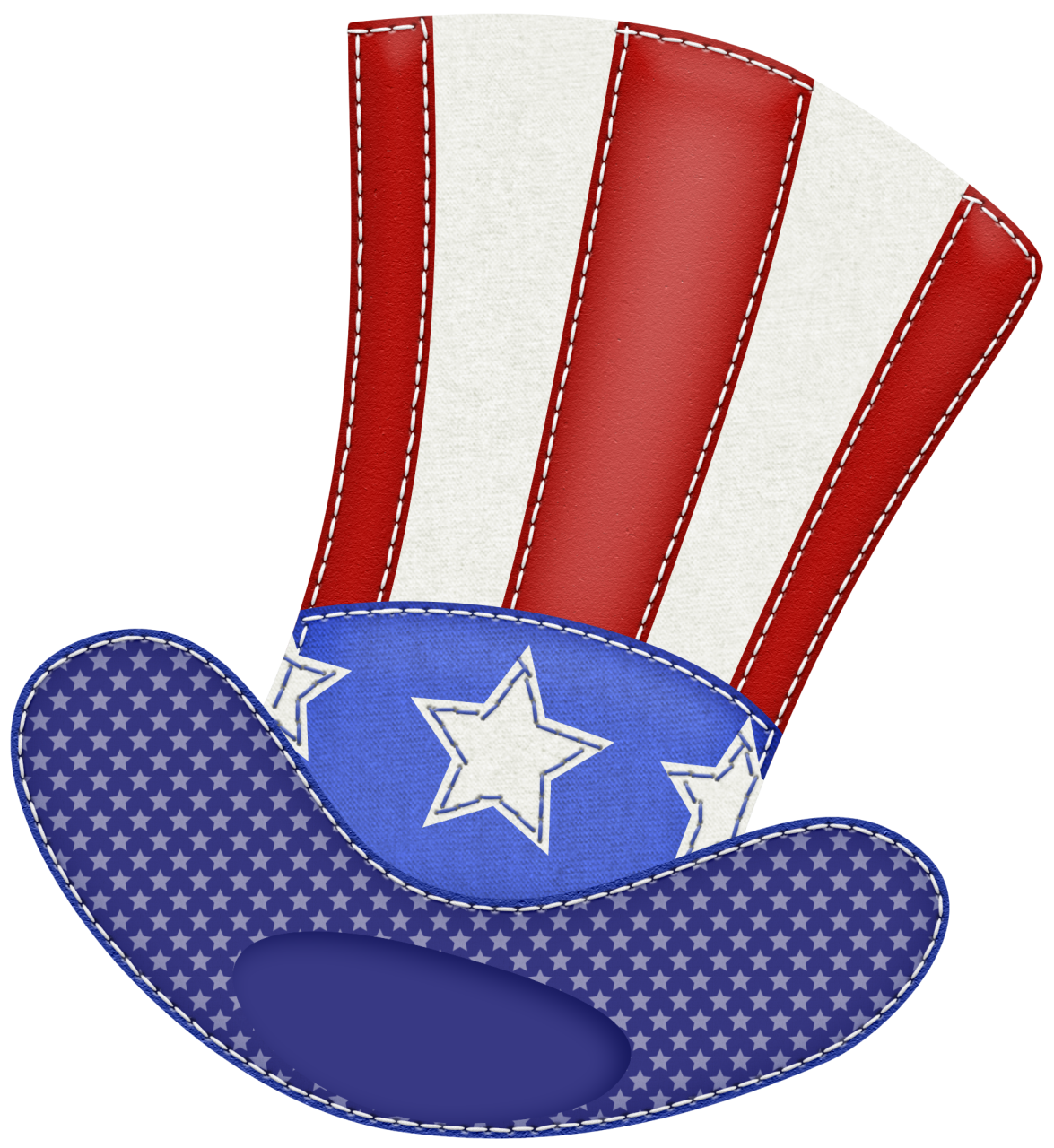 Patriotic hat clipart picture.