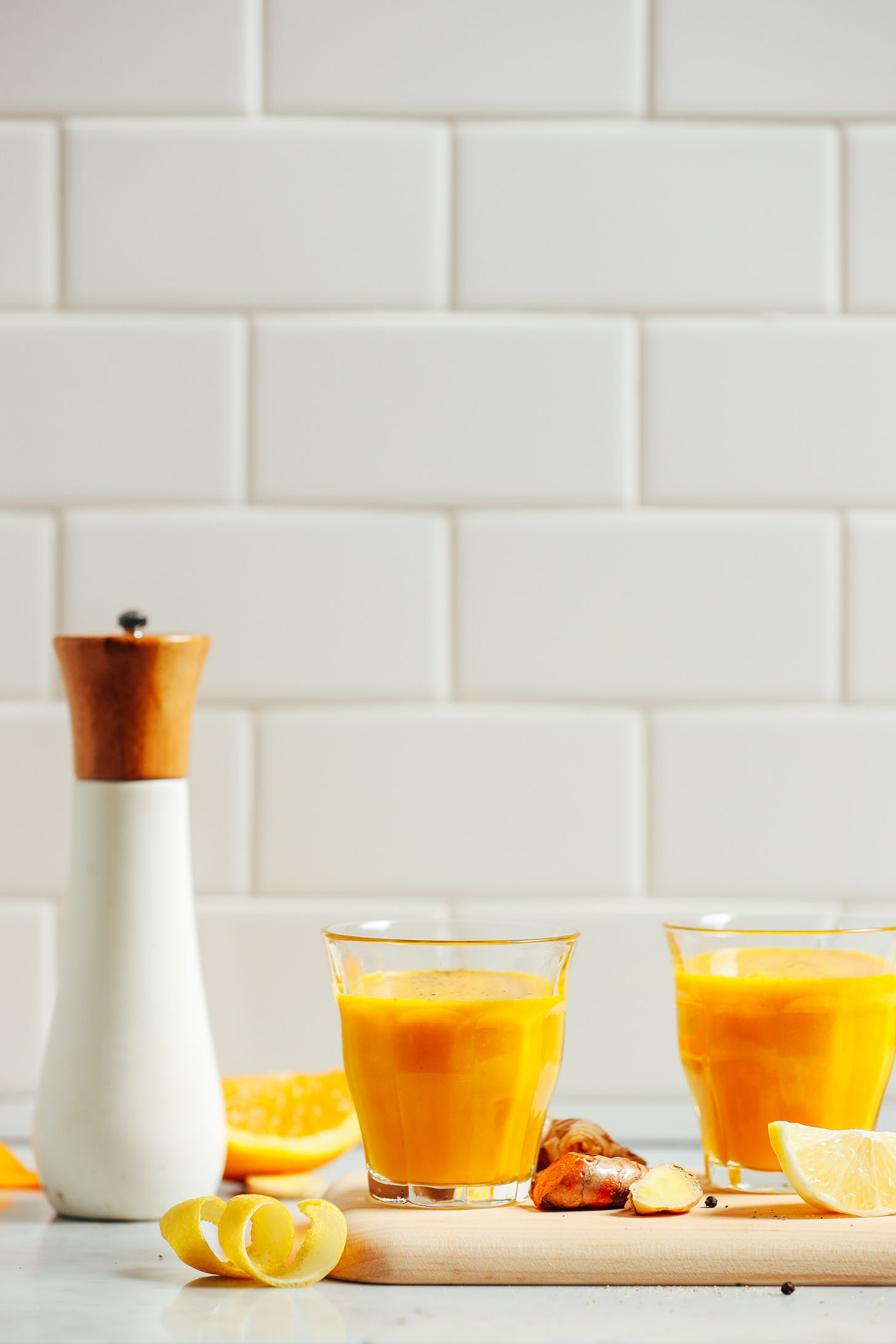 Lemon Ginger Turmeric Wellness Shots.