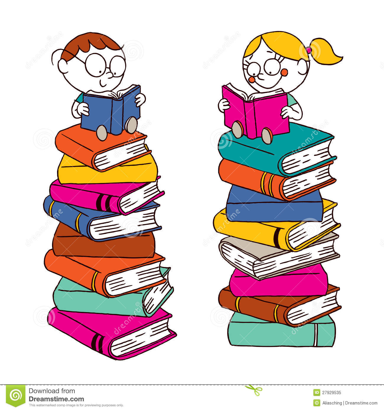 22737 Reading free clipart.