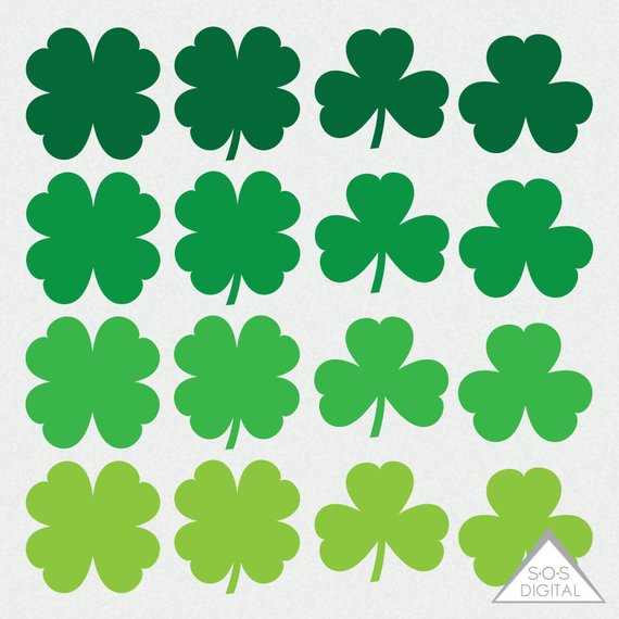 Shamrock Clipart, St. Patty\'s Day Clipart, St. Patrick\'s Day.