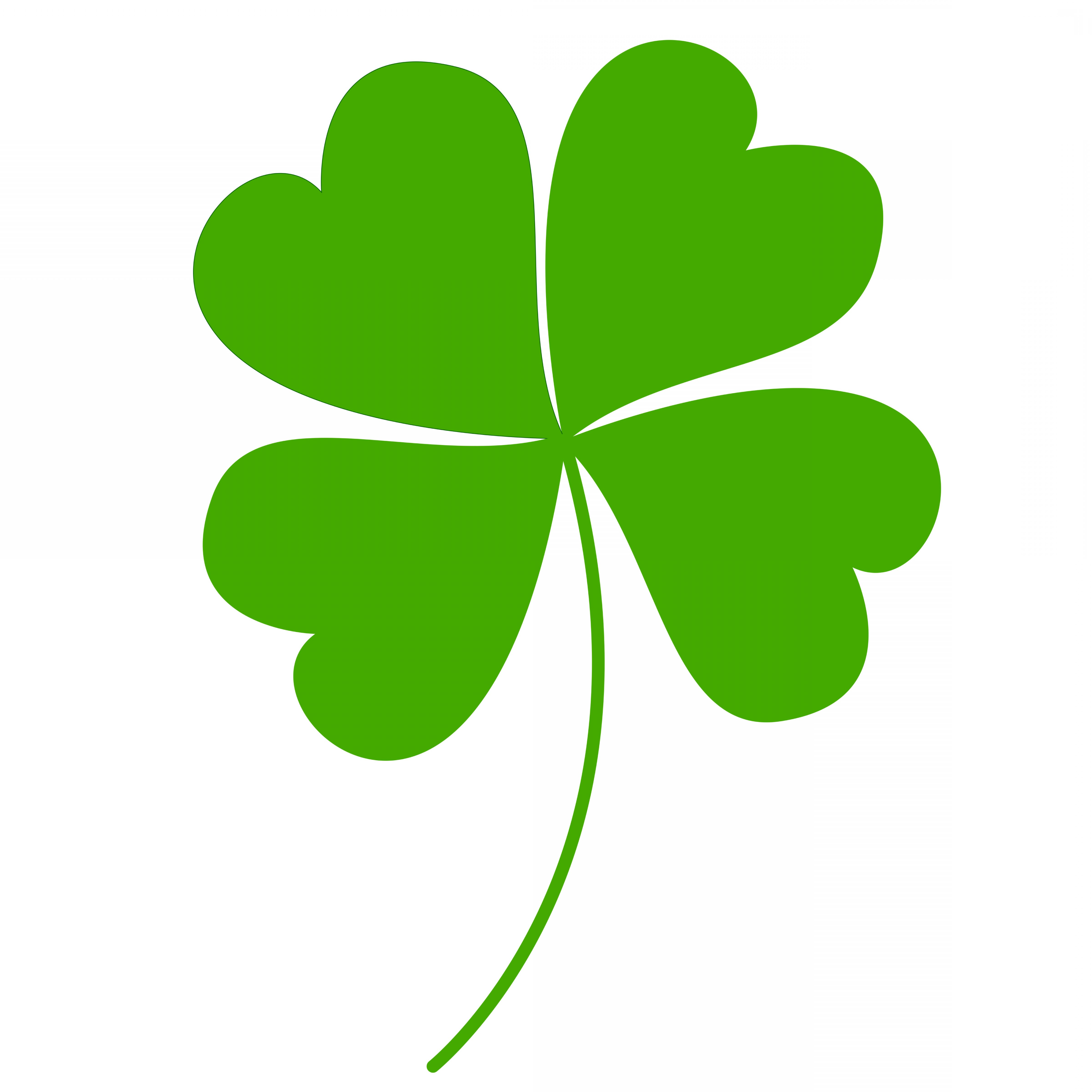 Free Clipart Of A Green St Paddys Day Shamrock Four Leaf.