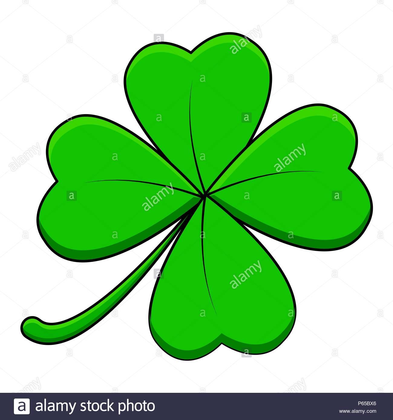 Four Leaf Clover Cartoon Icon Stock Photos & Four Leaf Clover.