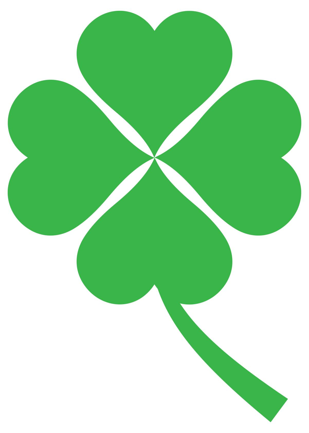 Four Leaf Clover Clipart to printable.