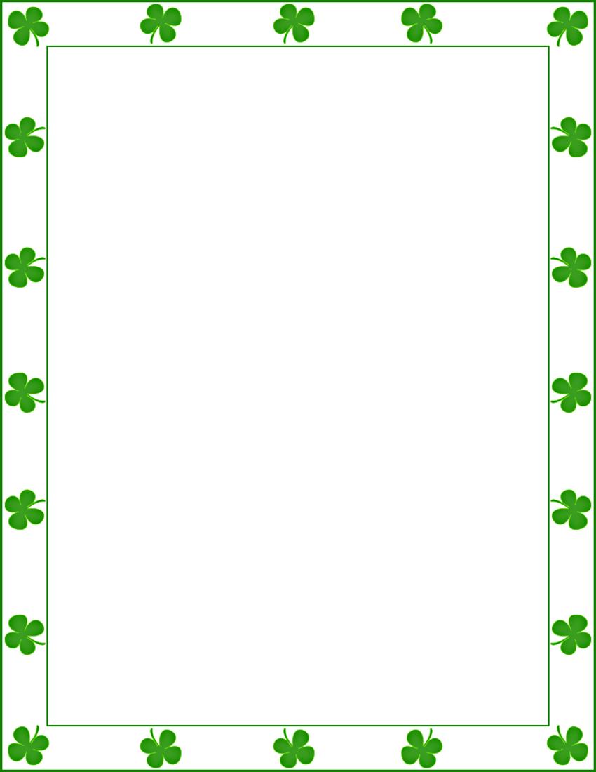 Four leaf clover border clip art.