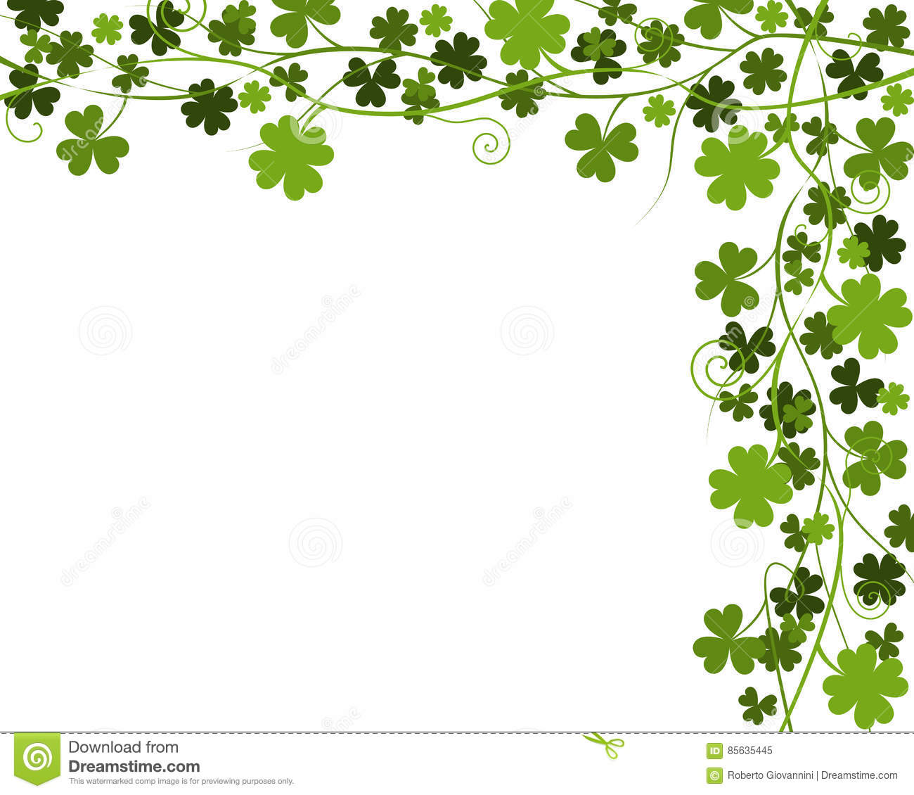 Four Leaf Clover Border & Free Four Leaf Clover Border.png.