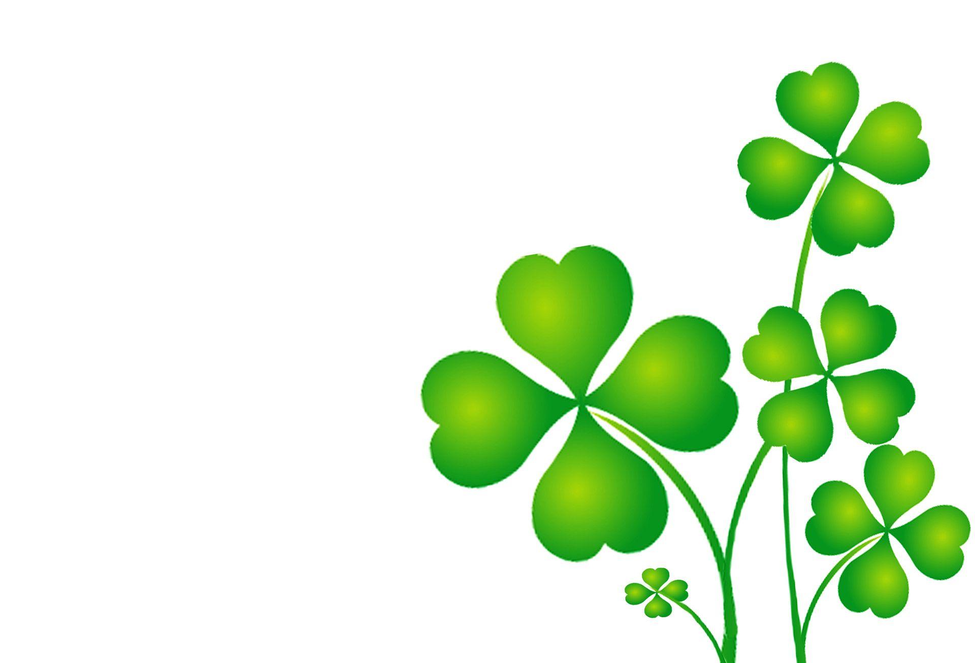 st patricks free downloadable 4 leaf clovers.