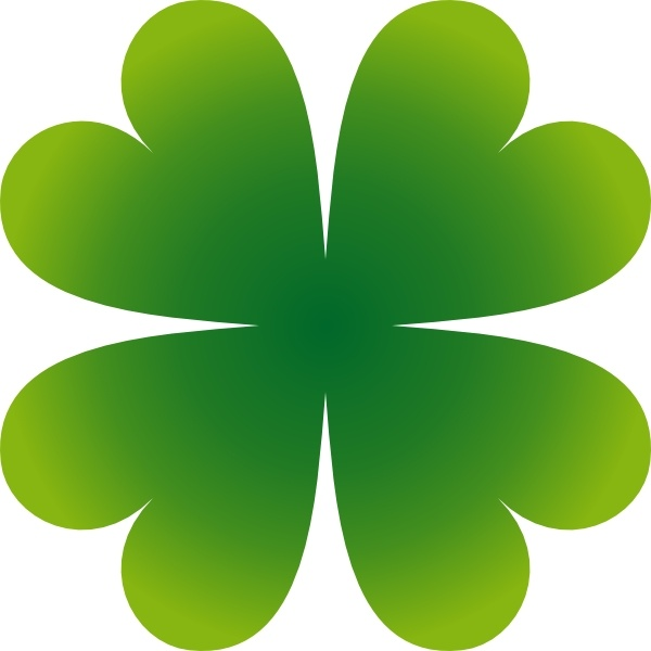 Pierig Four Leaf Clover clip art Free vector in Open office.