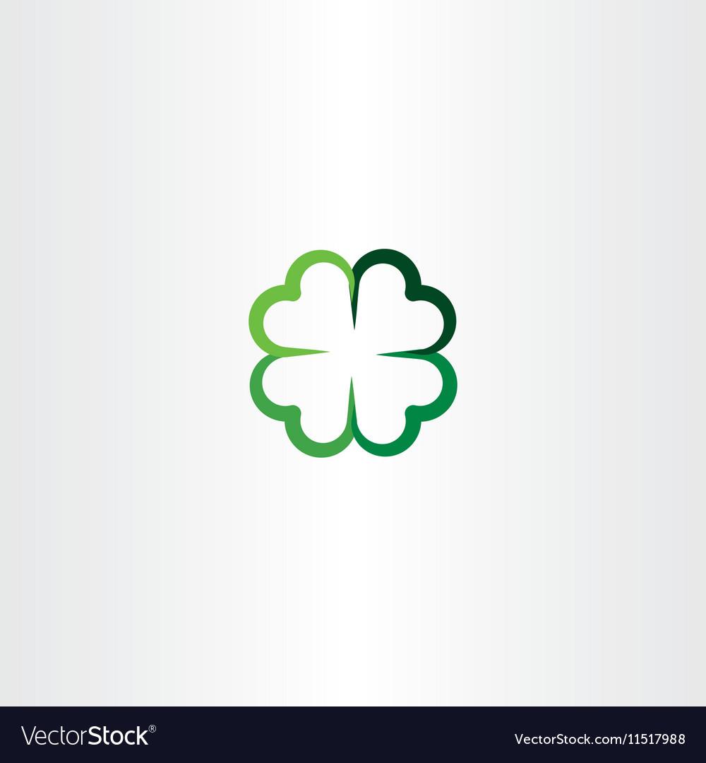 Four leaf clover luck icon clip art.