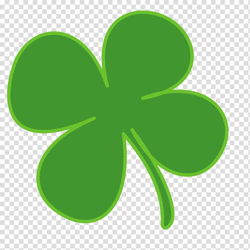 Green clover logo, Ireland Shamrock Saint Patrick\\\'s Day.