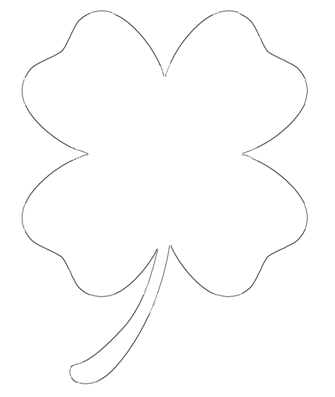 Free Four Leaf Clover Outline, Download Free Clip Art, Free.