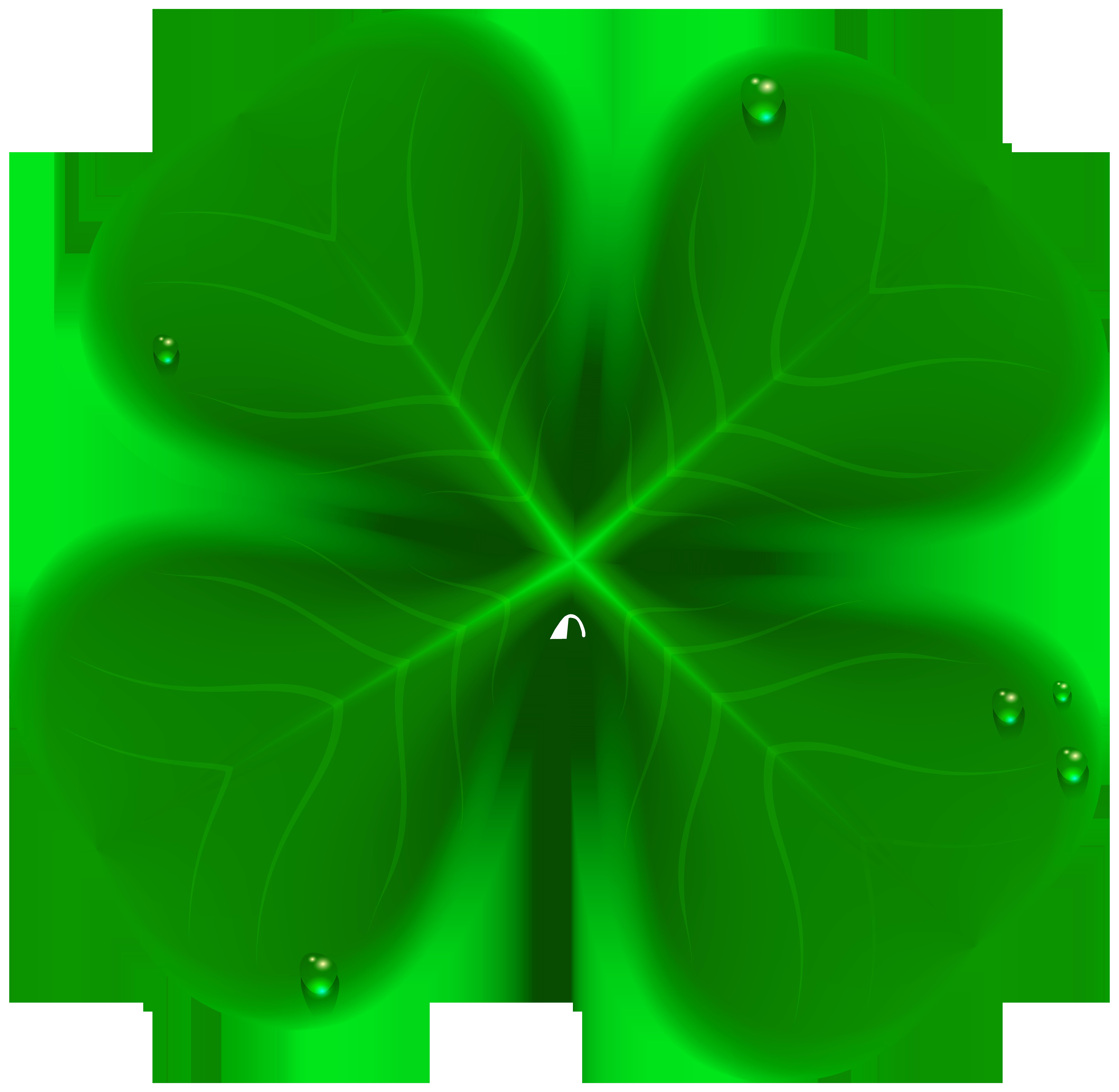 Four Leaf Clover Transparent Clip Art Image.
