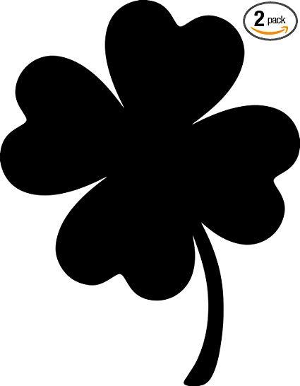 Amazon.com: ANGDEST Four Leaf Clover Silhouette Funny (Black.