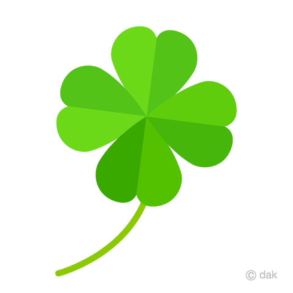 Free Four Leaf Clover Clipart Image|Illustoon.