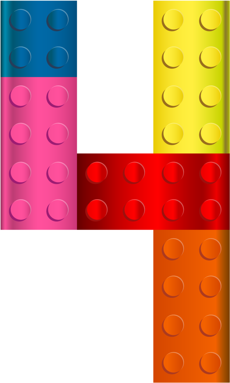 Lego Number Four Clip Art Image Wikiclipart.