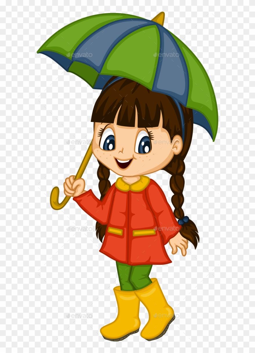 Cute Little Girl For 4 Seasons.