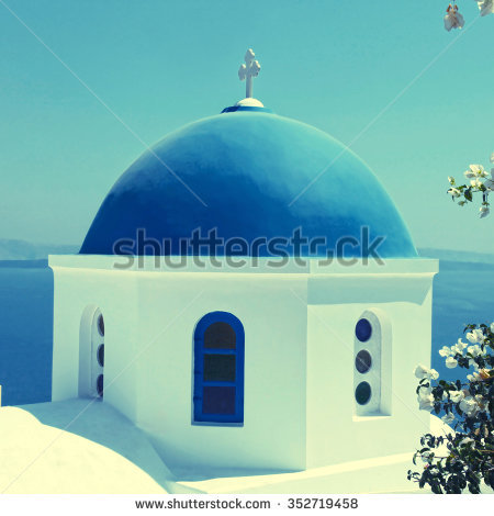 Blue Domes Stock Photos, Royalty.