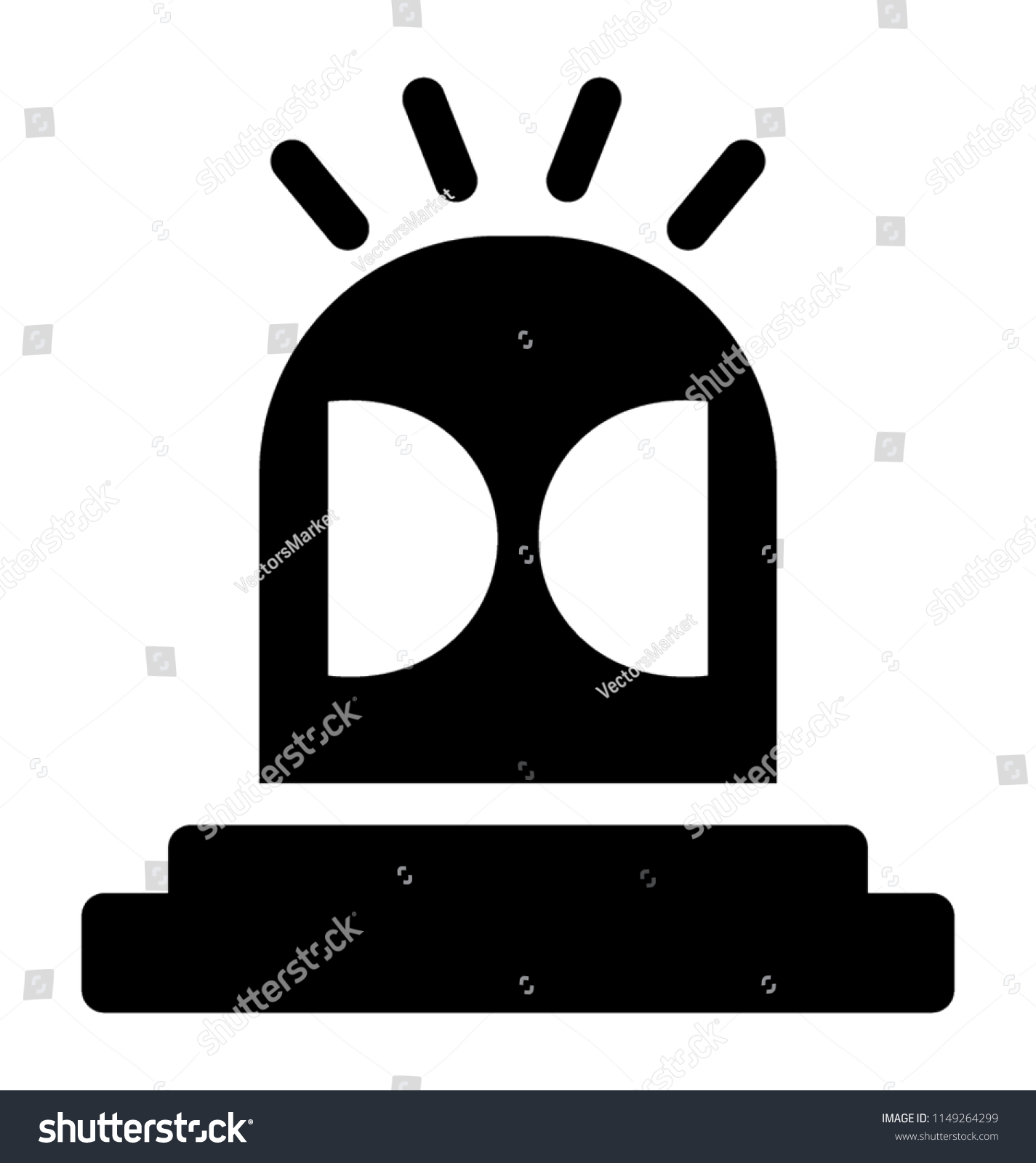 Vehicle Light Looking Like Dome Two Stock Vector (Royalty Free.
