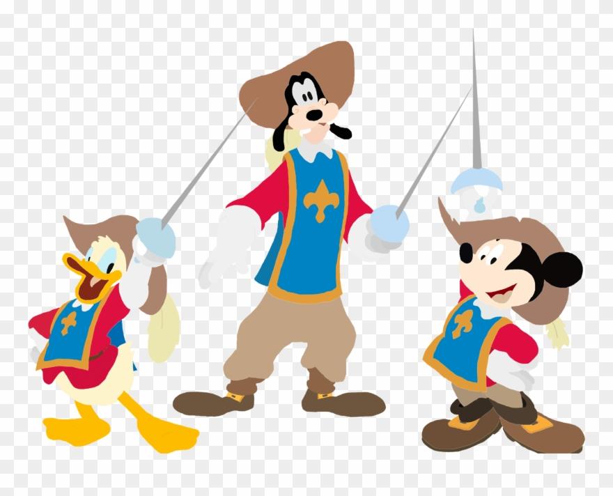 Mickey Donald Goofy Three Musketeers Disney.