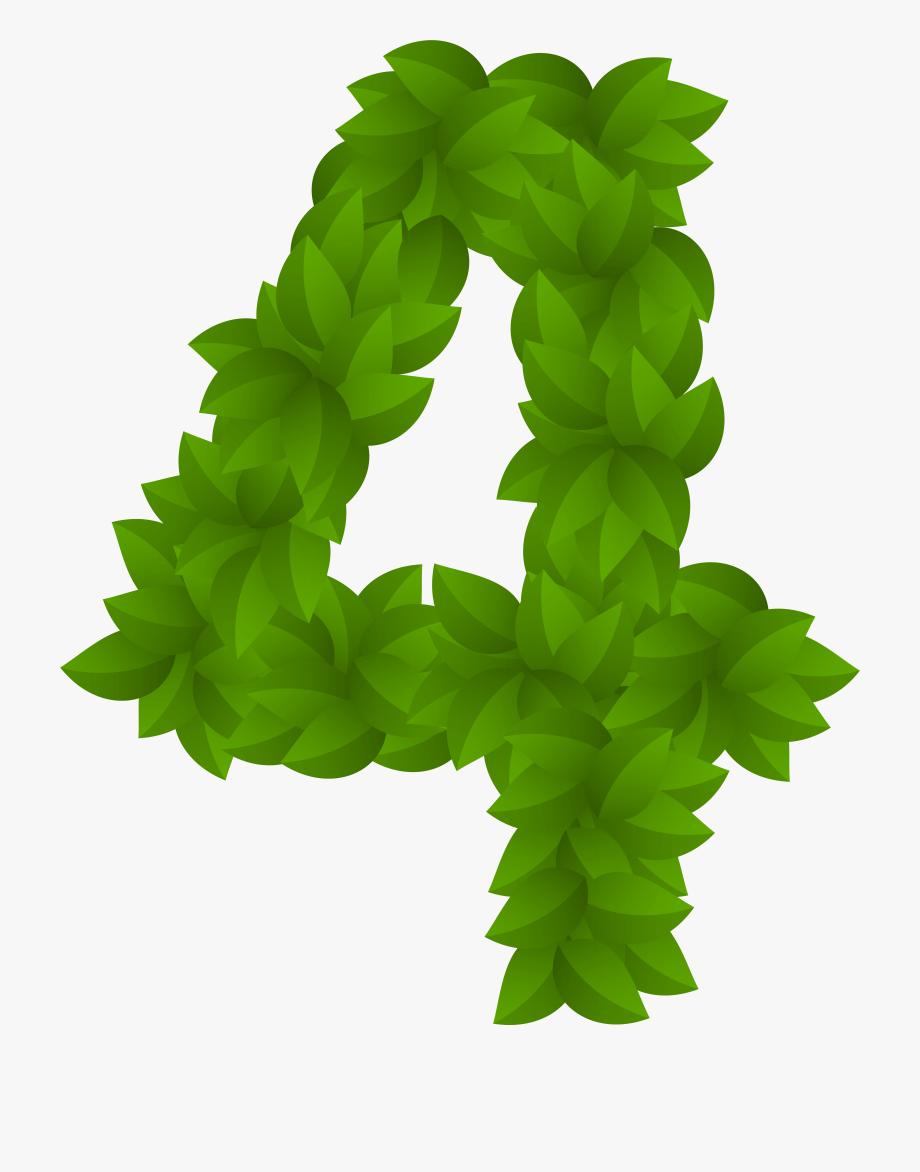 Number 4 Clipart Green , Transparent Cartoon, Free Cliparts.