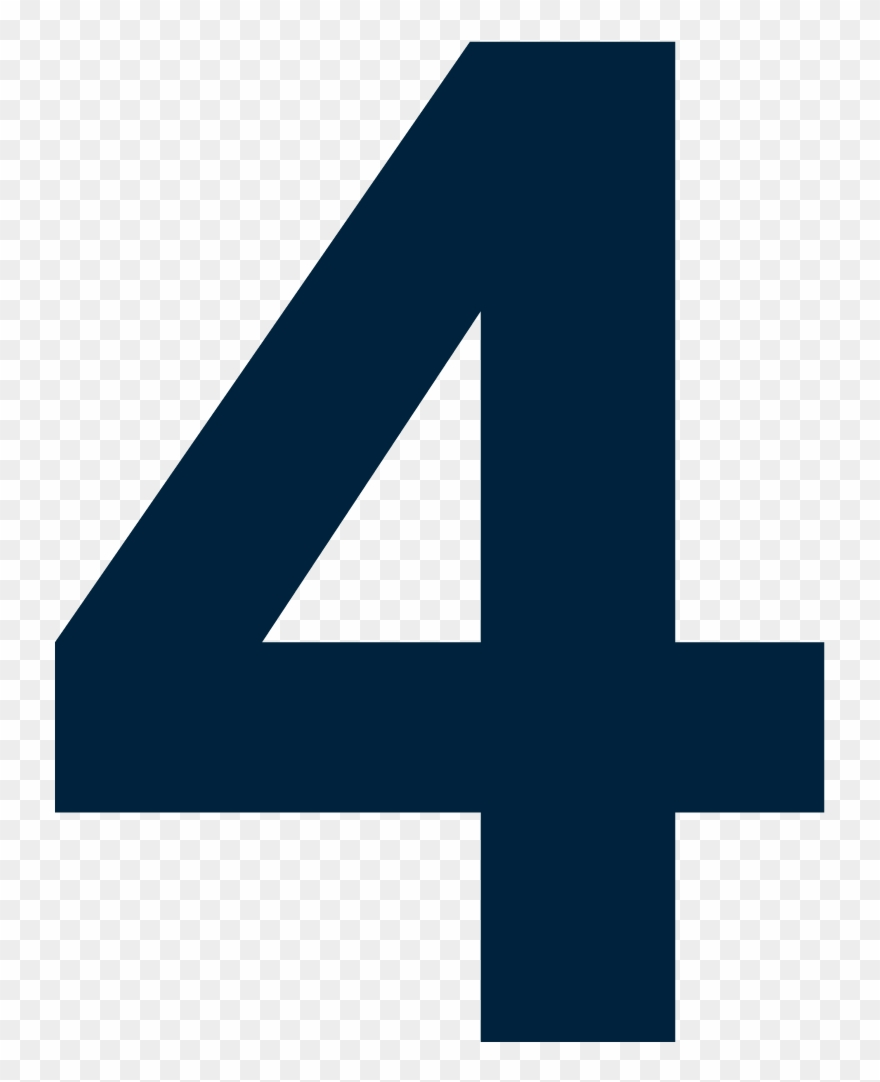Number 4 Clipart Blue.
