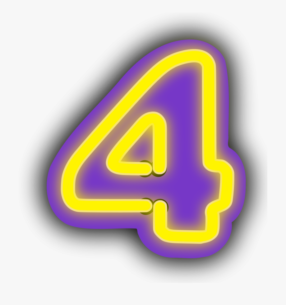 Numbers Clipart Purple.