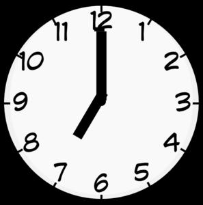 7 O Clock Clip Art at Clker.com.