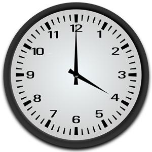 4 o\'clock clipart, cliparts of 4 o\'clock free download (wmf.