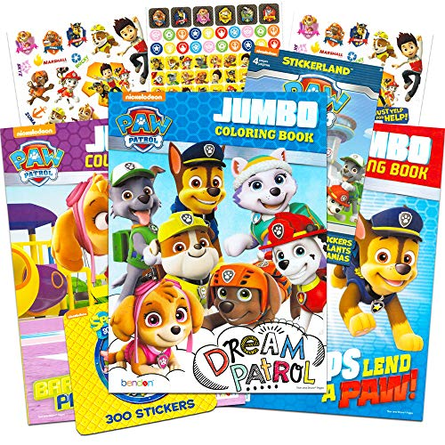 Paw Patrol Coloring and Activity Book Set (3 Coloring Books.