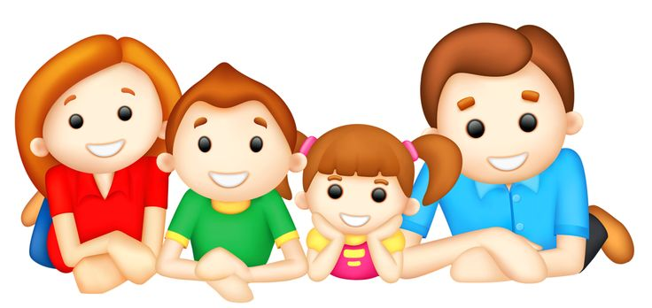 Family clipart 4 people 2 daughters 9 » Clipart Station.