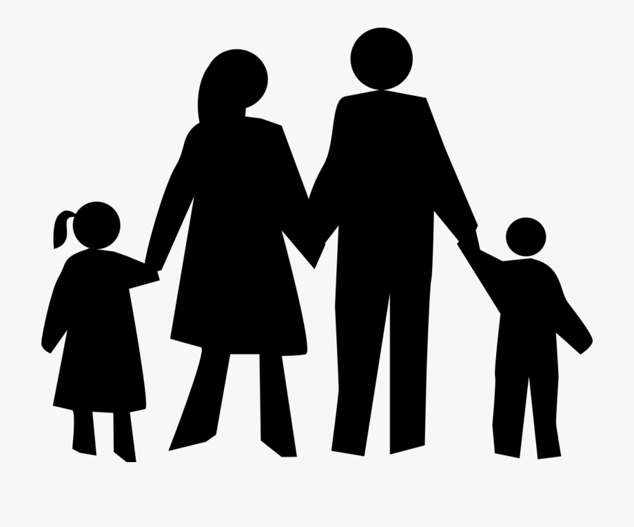 4 People Family Clipart Black And White.