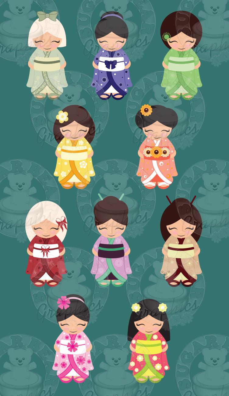 Kokeshi Dolls $10.