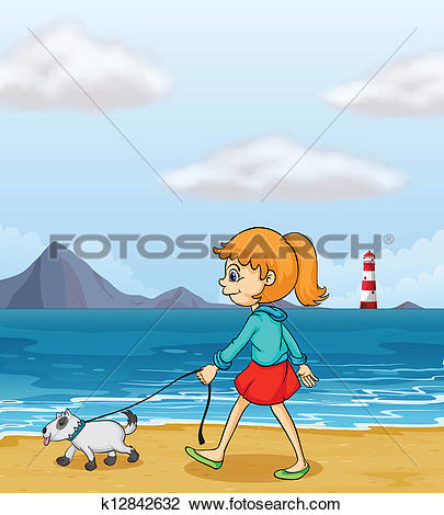 Showing post & media for Girl strolling cartoon.